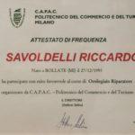 Attestato Savoldelli Riccardo